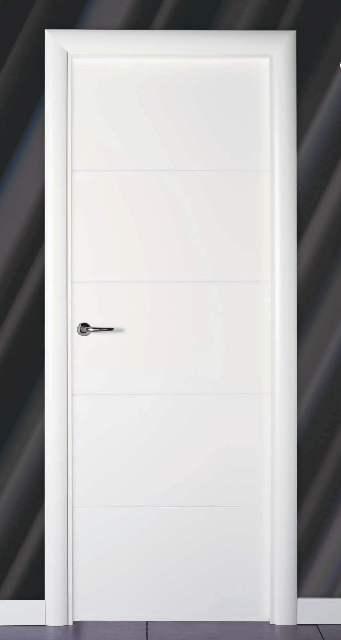 Puertas interiores modernas blancas for Puertas macizas blancas